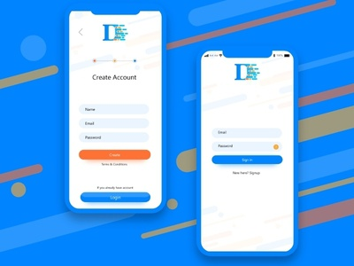 Sign up and Sign in screen Design iphone x mockup sign in cool sign design simple ui creative design concept signup screen login screen motion dribbble app signup form signup login page login sign