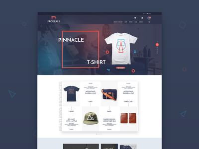 Prodeals Web layout Design slider photoshop dribbble branding template tshirt mockup shopping home app index web deisgn weblayout cool typography ui design concept creative ecommerce homepage design home homepage
