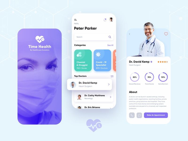 Healthcare Mobile App medical mobile app doctor mobile app coronavirus covid-19 healtcare mobile apps hello dribbble dribbble free psd template clean mobile app design creative mobile app design ui ux design appdesign mobile design clinic hospital mobile app design healthcare mobile app