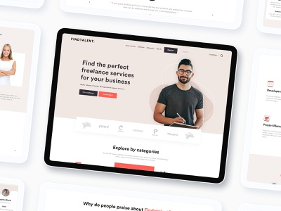 Freelancer Service FREE XD dribbble invite free xd inspiration ui ux design template web page website design landing page home page hr management hr freelancer service freelancer find job find talent