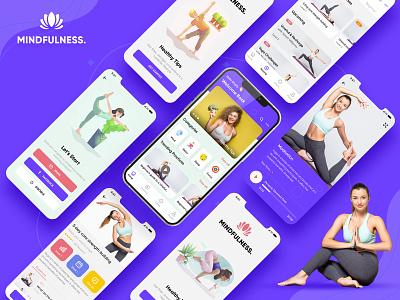 Mindfulness Mobile App mobile ui kit