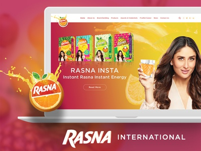 Rasna International Website india ux design ui design dribbble landing page design landing page home page home page design juice website inspiration creative website inspiration creative ui ux design website design website design rasna international rasna juice rasna