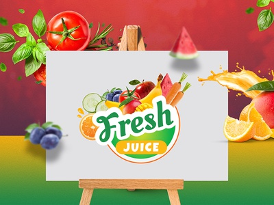 Fresh Juice Protein Logo fresh juice bar fruits vegetable juice add dribbble website design ux vector graphic logo branding illustration ui ux design inspiration design