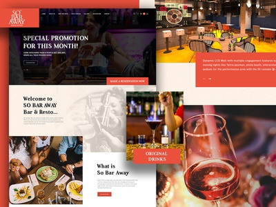 So Bar Away Home Page free homepage design landing page landingpage home bar hard drink drink hotel restaurant homepage ux juice dribbble website design ui ui ux design graphic inspiration design
