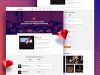 Ruby On Rails Conference Page Design