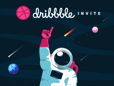 Dribbble Invite invite design icon vector illustration ahmedabad dribbble invites hello dribbble dribbble invitation dribbble best shot dribbble invite dribbble