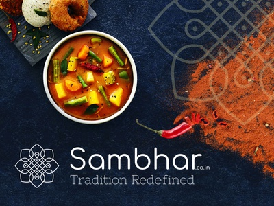 Sambhar.co.in Logo Design south indian food food restaurant sambhar sambar idli dosa rangoli south design illustration inspiration dribbble graphic branding ui ux design logo design south indian logo