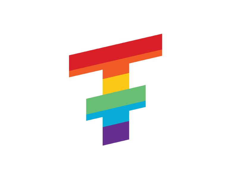 Ticketfly Pride logo rainbow flying t ticketfly pride