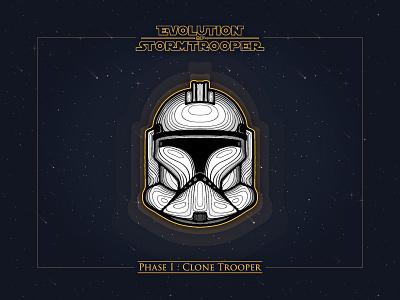 Phase I: Clone Trooper artwork badge illustration stormtrooper wars star