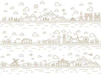 Landmarks illustration