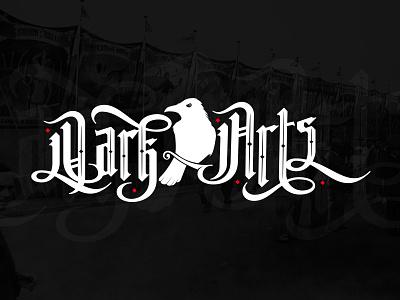 WIP - Dark Arts crow raven design black illustration vector slabserif logo gothic