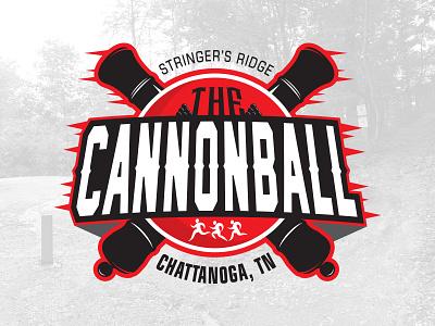 The Cannonball, Tenn. circle logo badge medal runner tennessee marathon cannonball cannon run