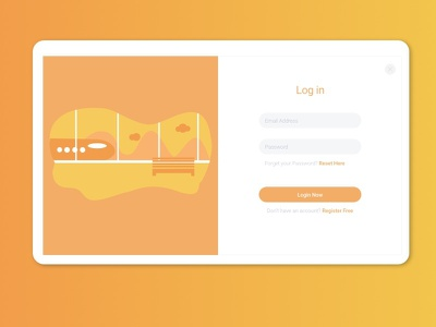 Log in form preview app icon typography ux vector branding ui logo illustration design