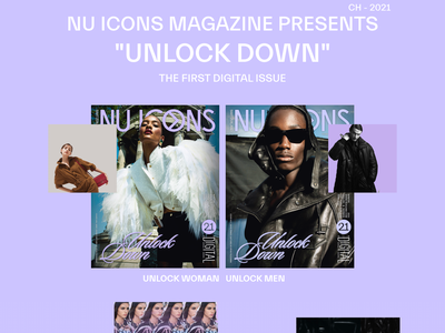 NUICONS Magazine Website fashion brand brand fashion design fashion design art animation minimal website design ux ui