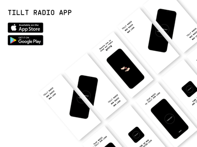 Tillt Radio App branding animation design illustration minimal logo icon app ux ui