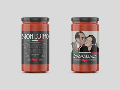 Buonissimo - A Family Tradition logo label design label mockup design mockup design branding