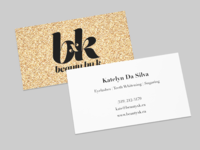 Beauty by k business cards