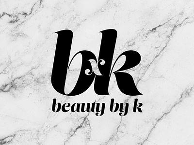Beauty by K beauty logo logo design concept vector logo design branding