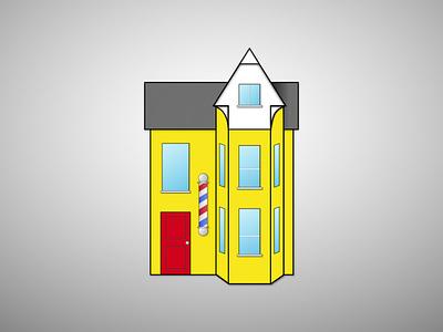Barbershop just for fun branding illustration logo design concept vector logo design