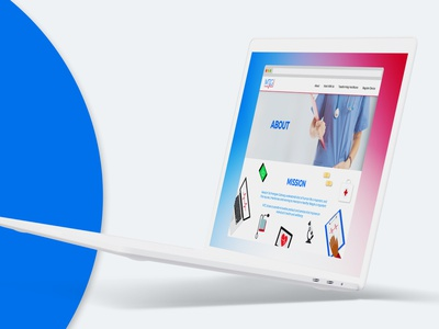 Medical Technologies Gateway - Website Concept web design ui design ux  ui ux design ux ui logo design concept vector logo branding design