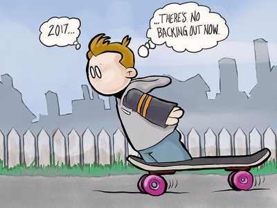 2017 breeze skateboarding cartoon