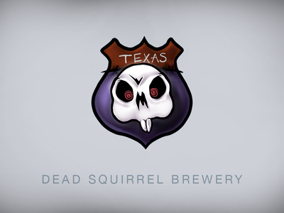 DEAD SQUIRREL BREWERY squirrel! cartoon logo