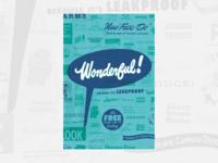 1940s Typographic Poster