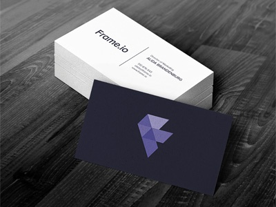 Frame.io Business Cards business cards logo identity frame frame.io