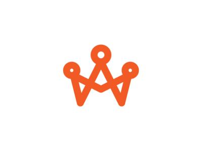 A / Family family simple crown mark logo icon