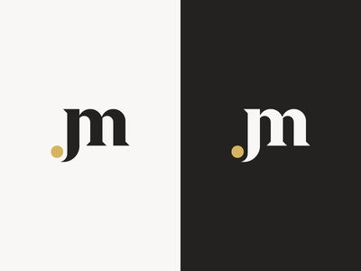 Personal monogram update letters jm monogram serif logo