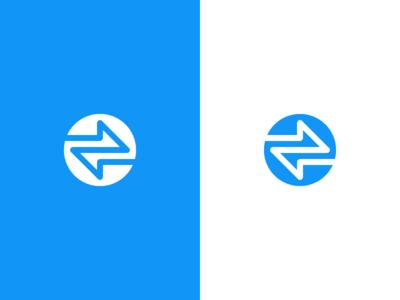 Coin / convert logo crypto arrows convert minimal coinverter coin