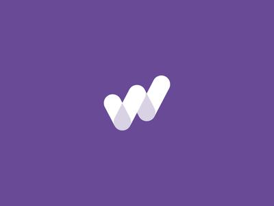 W / Transparency minimal overlap transparency transparent monogram letter w mark logo
