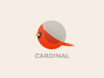 Cardinal logo bird cardinal round circle roundimals mark