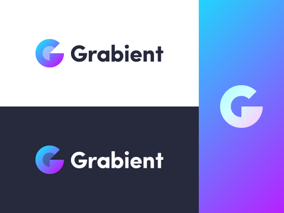 Grabient - another idea branding letter simple minimal grabient mark logo gradient