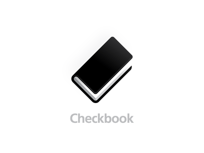 Check + book needs work needs more dollar sign logo mark icon check mark check book checkbook concept idea simple