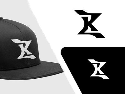 KZ Logo black monogram fashion cap flat minimalist logo