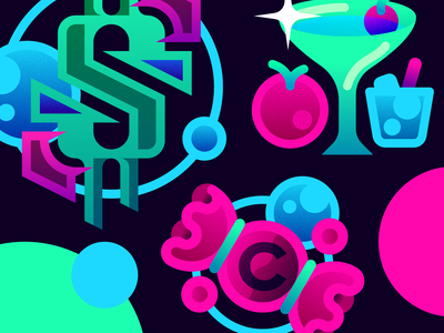 Candy Illustrations 2d simple vector design icon gradient illustration flat minimalistic
