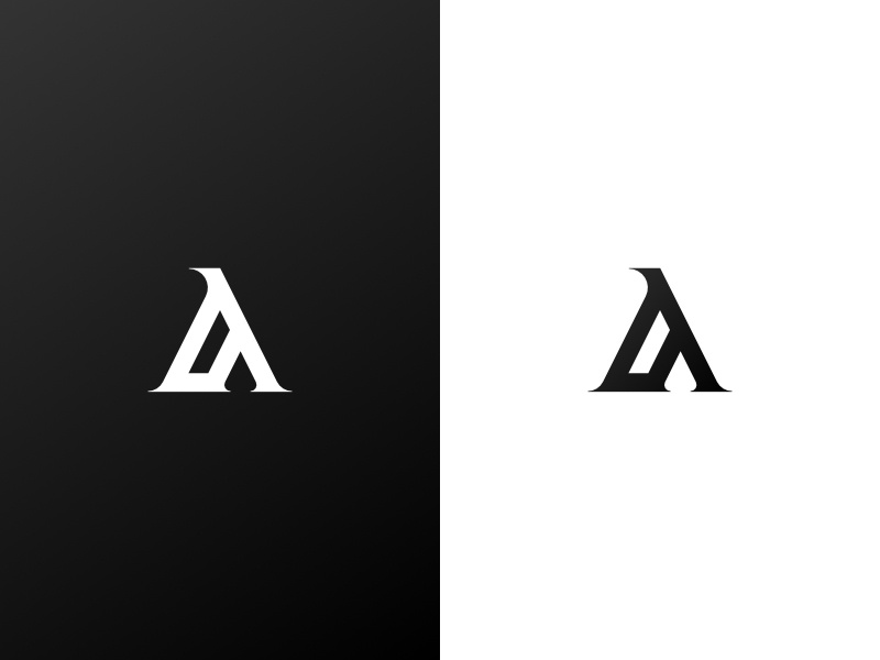 A Logo white black abstract serif arabic logo a