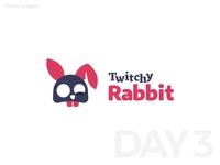 Thirty Logos #3 : Twitchy Rabbit