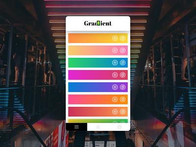 Gradient web ux ui app shadow 2d design icon gradient vector simple flat minimalistic