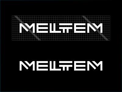 Meltem Logo and Grid branding typography black 2d design vector simple flat minimalistic logo