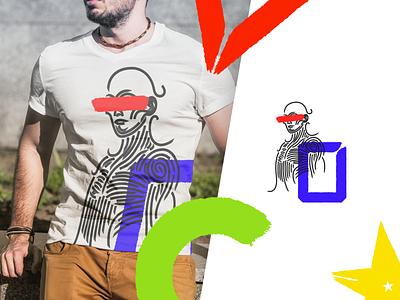 Deus ex Lineae Shirt shapes illustration shirt