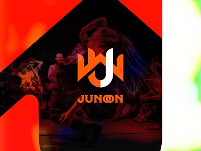 UW Junoon branding 2d red orange design gradient vector simple flat minimalistic logo