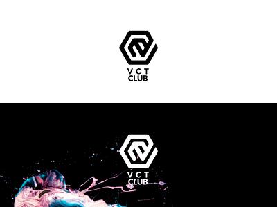 VCT Club 2 icon 2d design vector simple flat minimalistic logo