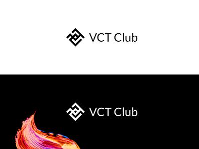 VCT Club 3 icon 2d design vector simple flat minimalistic logo