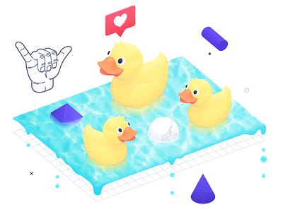 Service Design rubber duck service design digital illustration illustration