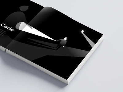 The Source Code: Handbook pages layout illustrator illustration flat graphic design dark creative character brand identity black and white artwork art direction art