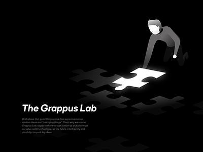 The Grappus Lab page: Handbook handbook brand design graphic design illustrator