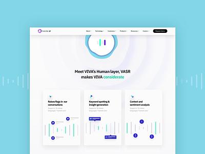 Vernacular.ai Website minimal web design identity uiux logo website ai voice voice ai branding vector design ux ui
