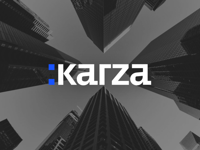 Karza Branding machine learning ai website design vector uiux clean ui technology minimal logo interface illustrations graphic design graphic flat design clean corporate identity blue branding
